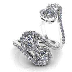 "The ""KAITLYN"" Two Stone Diamond Ring"