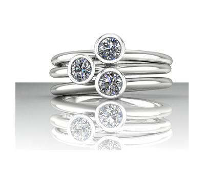 Tesoro Boston Jaqueline Diamond Rings
